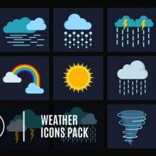 15 Weather Icons Pack - Videohive Download 24656832