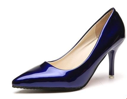 YEELOCA 2020 Pointed Toe Pumps Patent Leather a001 Dress High Heels Boat Shoes Wedding Shoes WE10