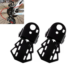 цены 1 Pair Steel Mountain Bike Rear Foot Pedal Thicken Bicycle Rear Folding Pedals Rear Platform Foot Feet Rest Pedal Stand
