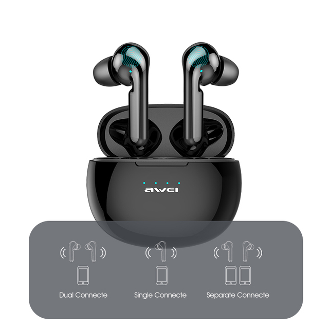 AWEI T15 TWS Bluetooth Earphones Mini In ear Sports headset For phone iPhone 7 x Xiaomi Huawei and others 3
