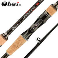 Obei ouragan 1.8m 2.1m 2.4m 2.7m 3 section baitcasting canne à pêche voyage ultra léger coulée leurre 5g-40g M/ML/MH tige