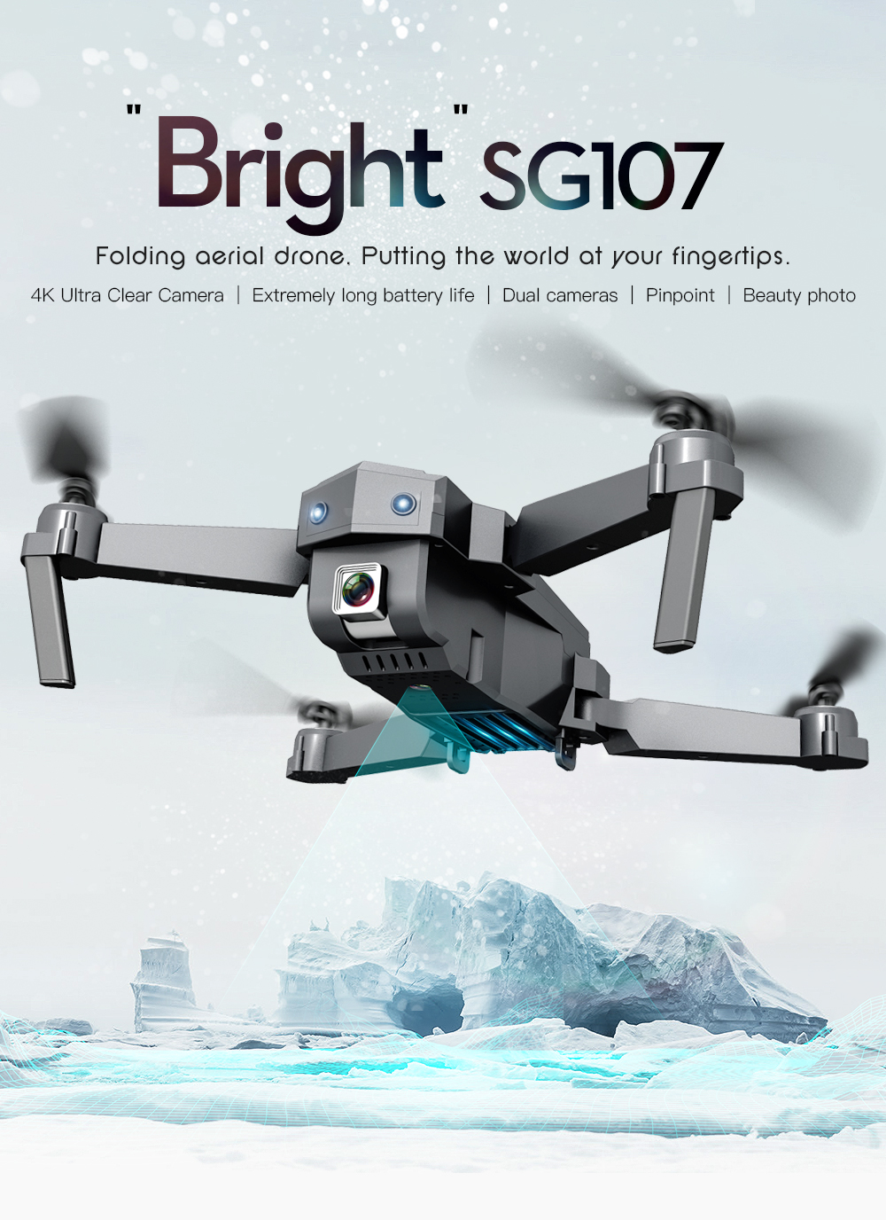H215244bf45ae46a899909809f7ca97b2h - Mini SG107 Drone 4k Double Camera HD XT6 WIFI FPV Drone Air Pressure Fixed Height four-axis Aircraft RC Helicopter With Camera