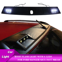 Car Roof Lights with 6 Leds SZCY T6 T7 MR160 without remote control Auto Accessories Flash Light Wildtrack Style For Ford Ranger