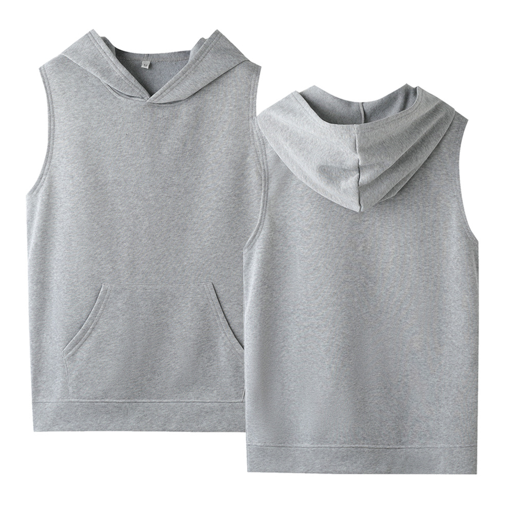 Womens Hoodies Pullover Crop Top Sleeveless Hooded Solid Cotton High Quality Plus Size Sweatshirt XXS-4XL Ladies Shirt