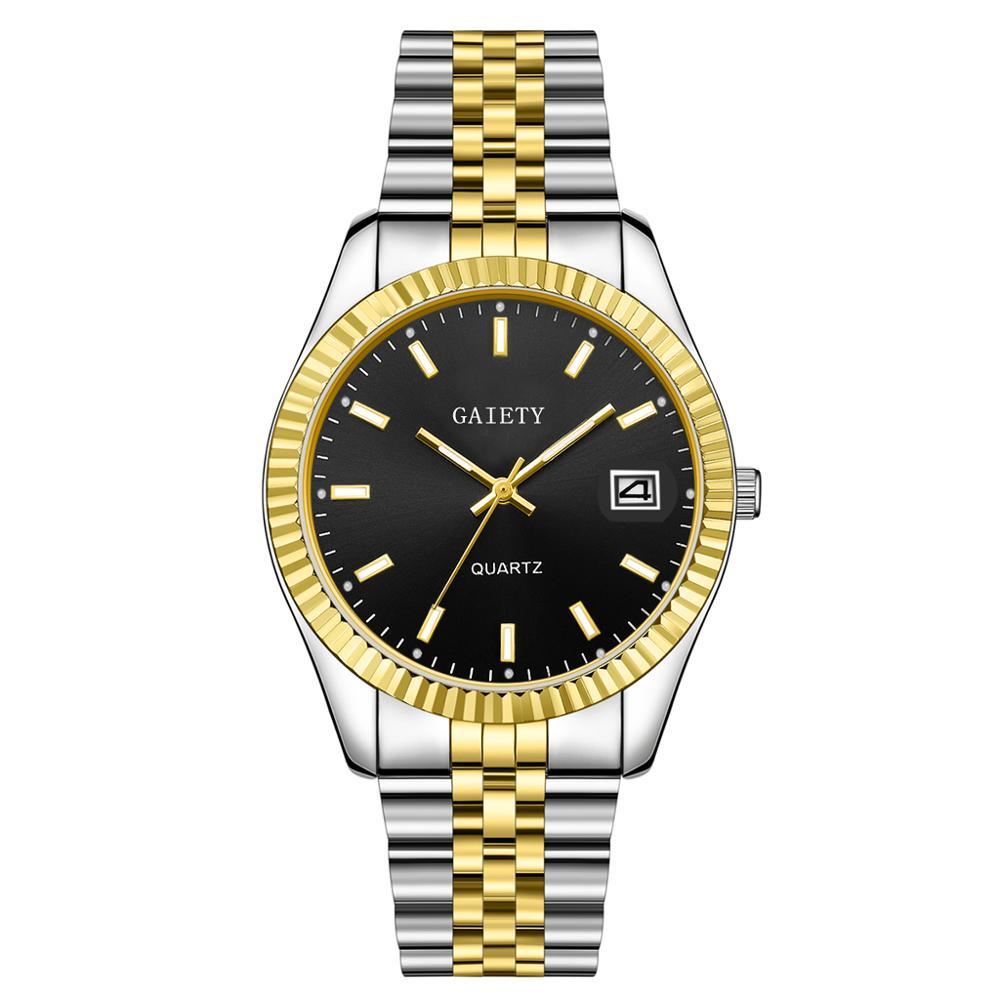 Men watch Gaiety Brand Business Gold Diamond Fashion Calendar Luxury Waterproof Quartz Wristwatch Relogio Masculino 5