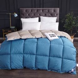 100% White Goose Down Quilts Duvet Thickening Winter Comforters Blanket Down Filling 100% Cotton Cover King Queen Full Twin Size