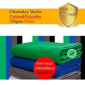 Image 5 - NeoBack Chromakey Muslin Ảnh Nền Chụp Ảnh Phông Nền Phòng Thu Video Cotton Vải Poly Xanh Màn Hình Màu Chân Dung