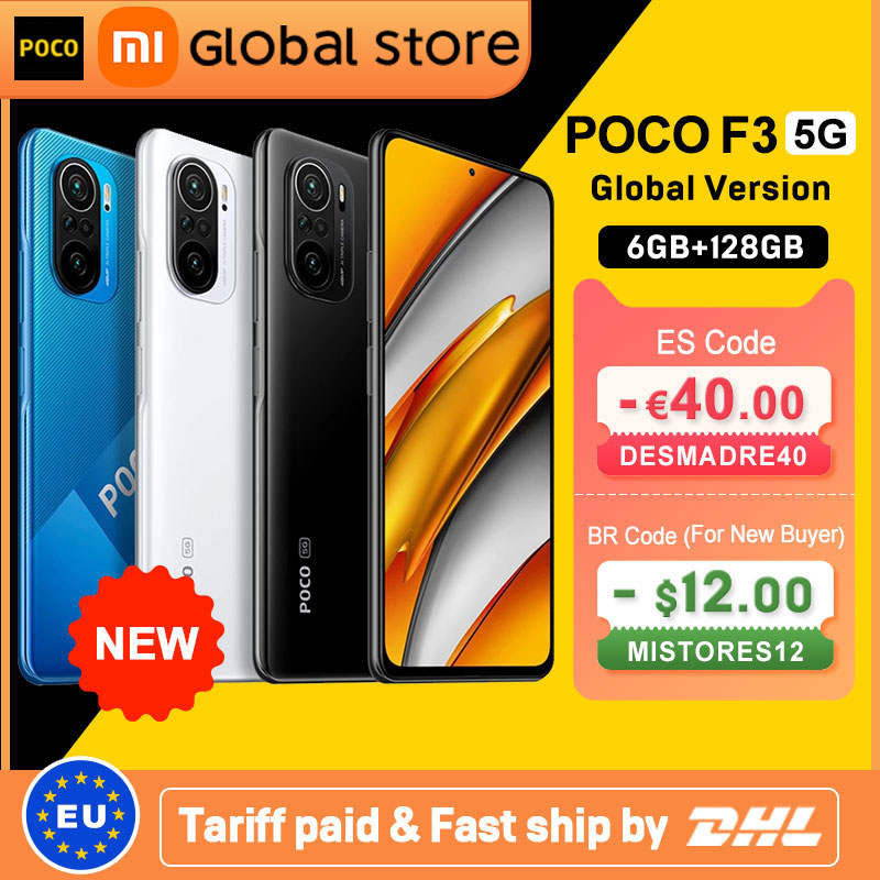 Global Version POCO F3 5G 6GB 128GB Smartphone Snapdragon 870 Octa Core 6.67
