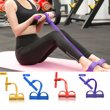 Home Fitness 4 Tube  Resistance Bands Latex Pedal Exerciser Sit-up Pull Rope Expander Elastic Yoga equipment Pilates Worko