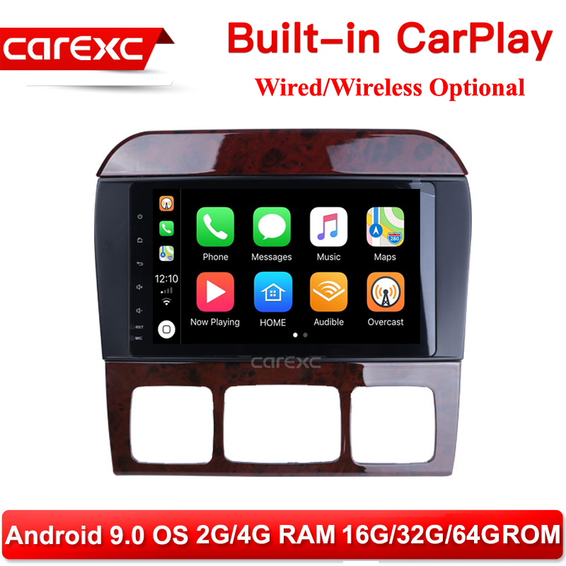 CarExc 8 inch Car Radio Android 9.0 Muiltmedia Player <font><b>GPS</b></font> CarPlay <font><b>for</b></font> <font><b>Mercedes</b></font> Benz W220 S280 S320 S350 S400 S430 <font><b>S500</b></font> 1998-2005 image