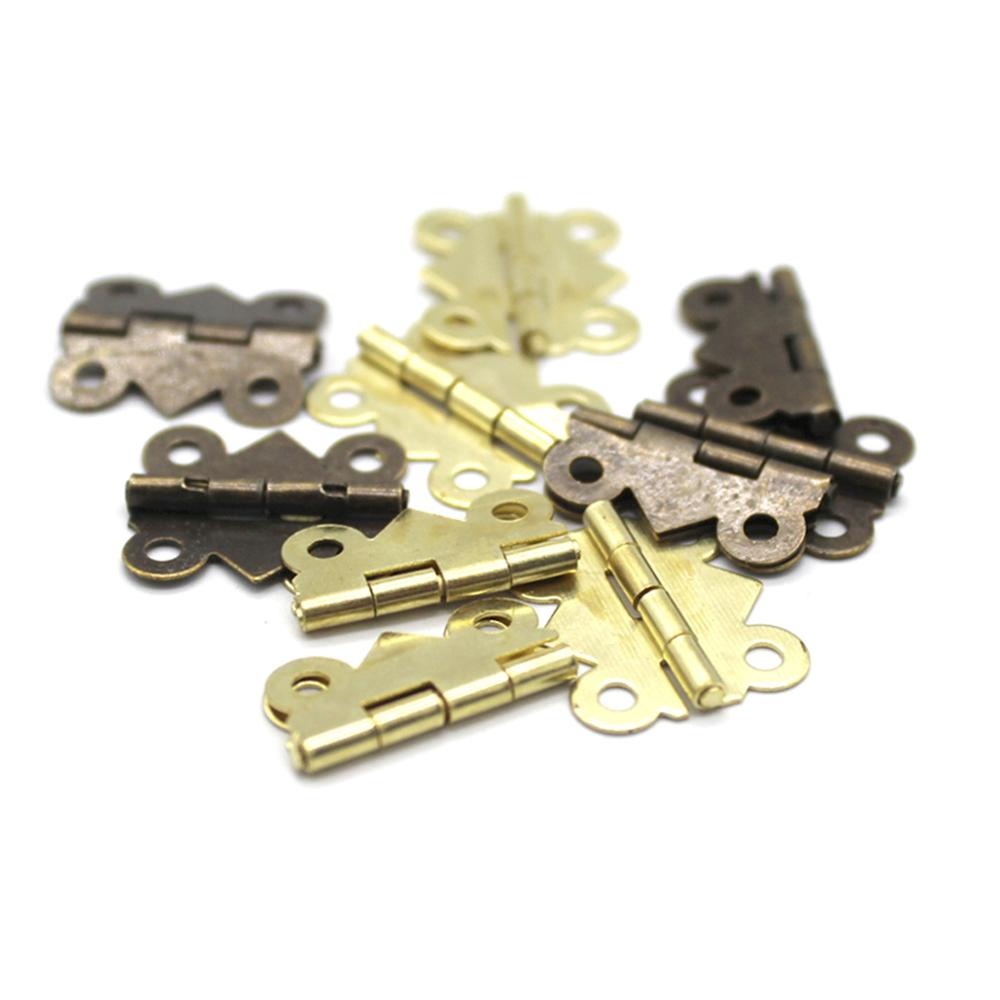 5pcs Mini Butterfly Door Hinges 20mm x17mm Bronze Cabinet Drawer Jewellery Box Decorate Hinge For Furniture Hardware