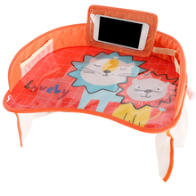 Travel Stroller Storage Water Holder Infant Car Safety Seat Tray Drawing Tablet Multifunction Cartoon Pattern Waterproof Plate