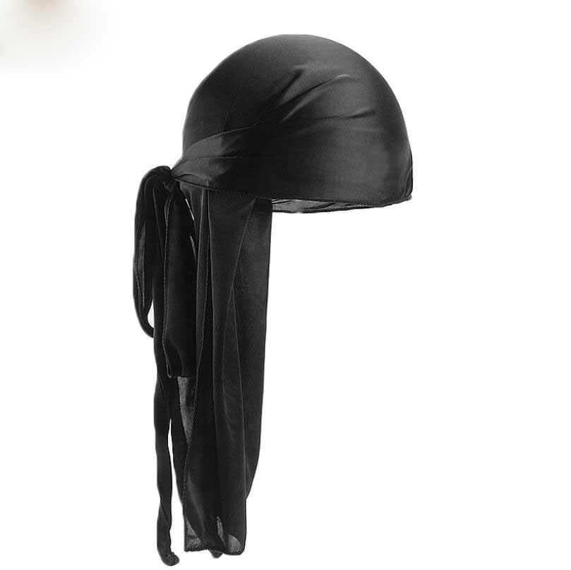 Unisex ผู้ชายผู้หญิง Breathable Bandana หมวกกำมะหยี่ Durag DO DO Du Rag ยาว headwrap chemo หมวกสีทึบหมวก Headwear