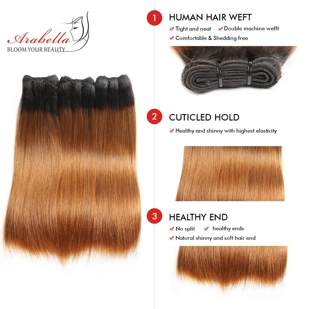 Super Double Drawn Straight Virgin Hair  Bundles 2/3/4 Pcs Ombre Hair  100%  Bundles 1b/99j Hair  2