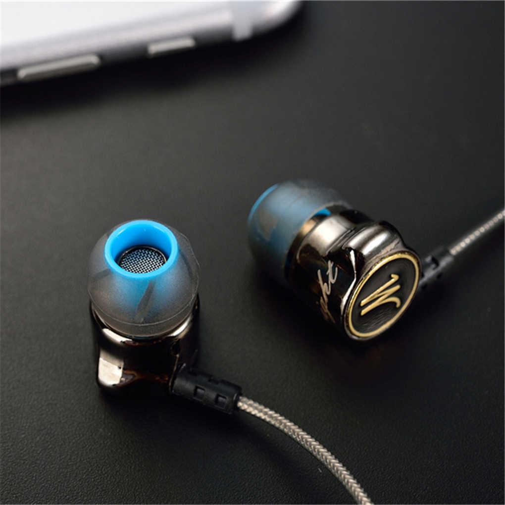 QKZ DM7 سماعة المعادن ستيريو الضوضاء عزل سماعة أذن داخلية المدمج في ميكروفون هيفي الثقيلة باس 3.5 مللي متر سماعات الأذن