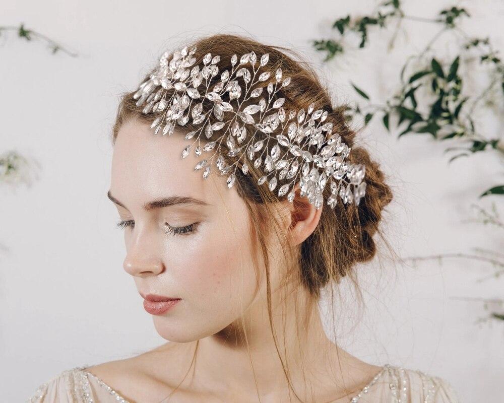 TOPQUEEN HP237 Wedding Hair Accessories Vintage Bridal Tiara and Crown Rhinestone Headband Crystal Hair Jewelry Bridal Hairpiece