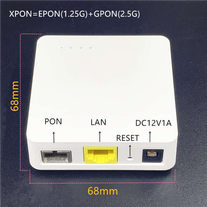 XPON Minni ONU 68MM XPON EPON1.25G/GPON2.5G G/EPON  English ONU FTTH Modem G/EPON Compatible Router Version ONU MINI68*68MM