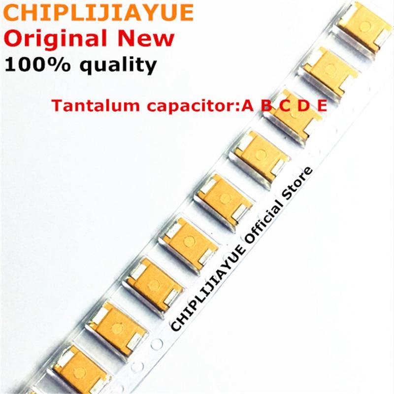 100 шт. танталовый конденсатор с алюминиевой крышкой, Тип C 226 686 106 337 227 476 107 10 мкФ 22 мкФ 47 мкФ 68 мкФ 100 мкФ 220 мкФ 330 мкФ 4V 6,3 V 10V 16V, алюминиевая крышк...