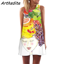 Summer Women Dress 2019 Vintage Sexy Bohemian Floral Tunic Beach Sundress 3D Print Female Brand Clothing