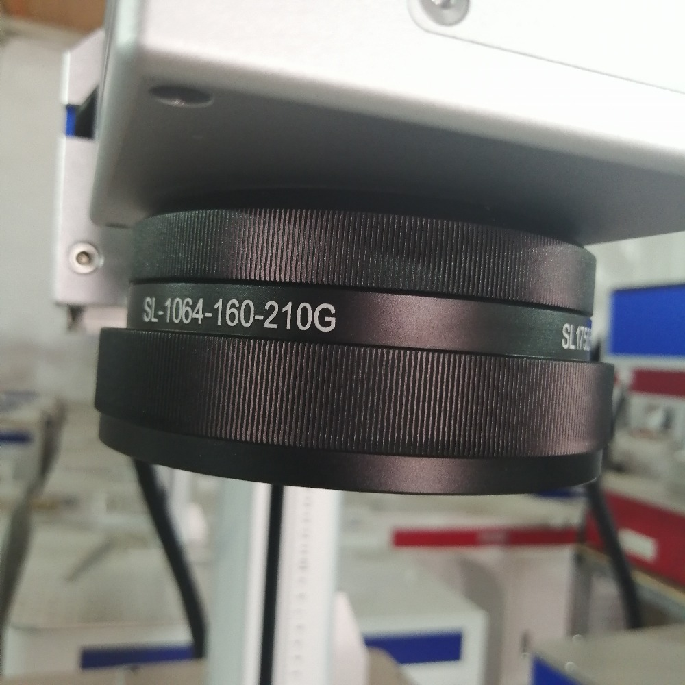 50W Metal Laser Marking Machine With Rotary Ring And Spare Lens 4