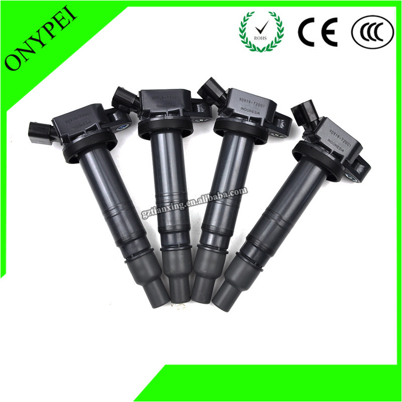 Ignition Coil Fortuner Innova Toyota 90919-T2001 New 4pcs Hilux-tgn16/26/36 Hiace/Fortuner/Innova/.. title=