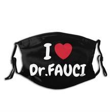 Eu amo dr fauci homem mulher reutilizável máscara facial anti haze dustproof máscara com filtros capa de proteção respirador boca muffle