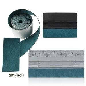 Image 1 - Foshio 3Pcs Vinyl Wrap Auto Tool Kit 100Cm Geen Kras Suède Doek Venster Tint Carbon Fiber Kaart Zuigmond schraper Auto Accessoires