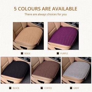 Image 4 - AUTOYOUTH pokrowce na siedzenia samochodowe przód/tył/pełny zestaw wybierz poduszki na siedzenia samochodowe tkanina lniana akcesoria samochodowe uniwersalny rozmiar antypoślizgowy