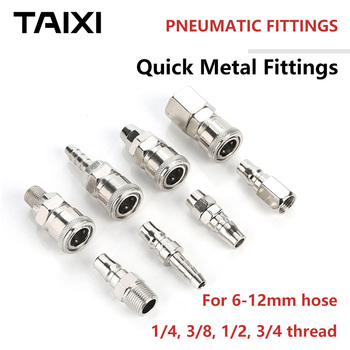 цена на Pneumatic quick fitting for air compressor Hose Connector SP20 PP SH PH40 SM PM SF PF air press ccessories 6mm 8mm hose piple