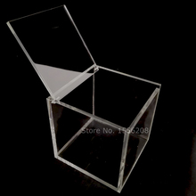 New Transparent Acrylic Storage Box Clear Square Cube Multipurpose Display Case Plexiglass Jewelry Gift Packaging Boxes
