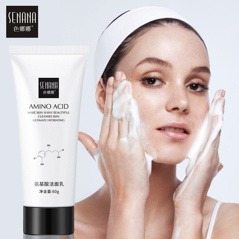 SENANA Aloe Amino Acid Face Cleanser Facial Scrub Cleansing Acne Treatment Blackhead Remover Shrink Pores Moisturizer Skin Care