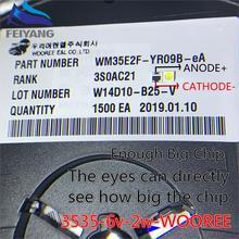 100 шт. для wooree светодиодный подсветка ЖК-дисплей ТВ шарик 6 V 2 W 3535 Светодиодная лампа SMD шарик 3535 холодный белый