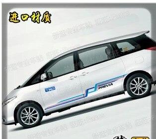 Car Sticker For Toyota previa Body Exterior Decoration Modified Sticker Dedicated Lahua Color Strip Film|Car Stickers| |  - title=