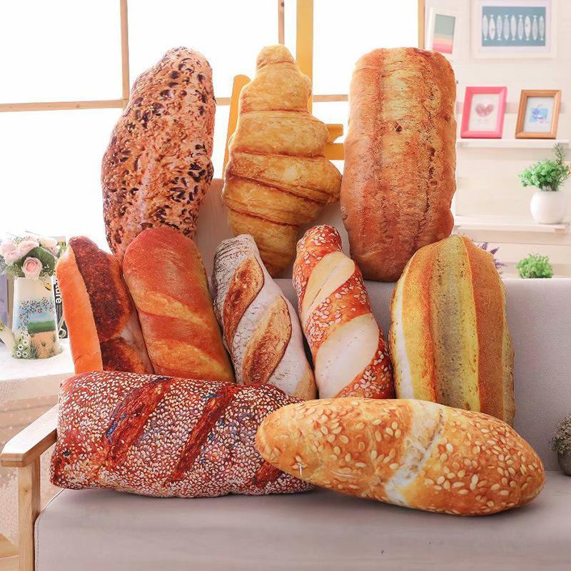 Творческий имитационный хлеб Подушка Плюшевые игрушки Реалистичные десерт еда, Пончик круассан крем хлеб диванную подушку украшения