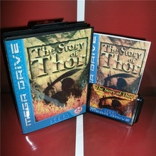 The Story of Thor EU Cover with Box and Manual For Sega Megadrive Genesis Video Game Console 16 bit MD card