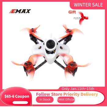 original emax f4 magnum all in one fpv stack tower system f4 osd 4 in 1 blheli s 30a esc vtx frsky xm rx Gift Official Emax Tinyhawk II Race BNF FPV Drone F4 5A 7500KV RunCam Nano2 700TVL 37CH 25/100/200mW VTX 2S With Gift