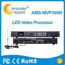led display scaler ams-mvp300R led video wall processor support remote control switching for full color led display screen