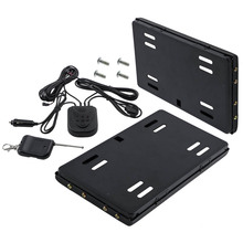 2pcs US Hide-Away Shutter Cover Up Electric Stealth License Plate Frame w/Remote Plastic + Metal 12V Remote Distance About 50M