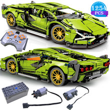 Famous Car Series Model Remote Control Electric Version Competitive Racing Building Blocks Boys Favorite Assembly Toys