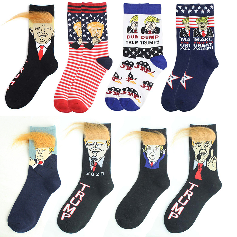 Happy Socks Men Hip Hop Donald Trump Socks Joker Novelty Novedades Cartoon Sokken Cotton Men Sock 578W