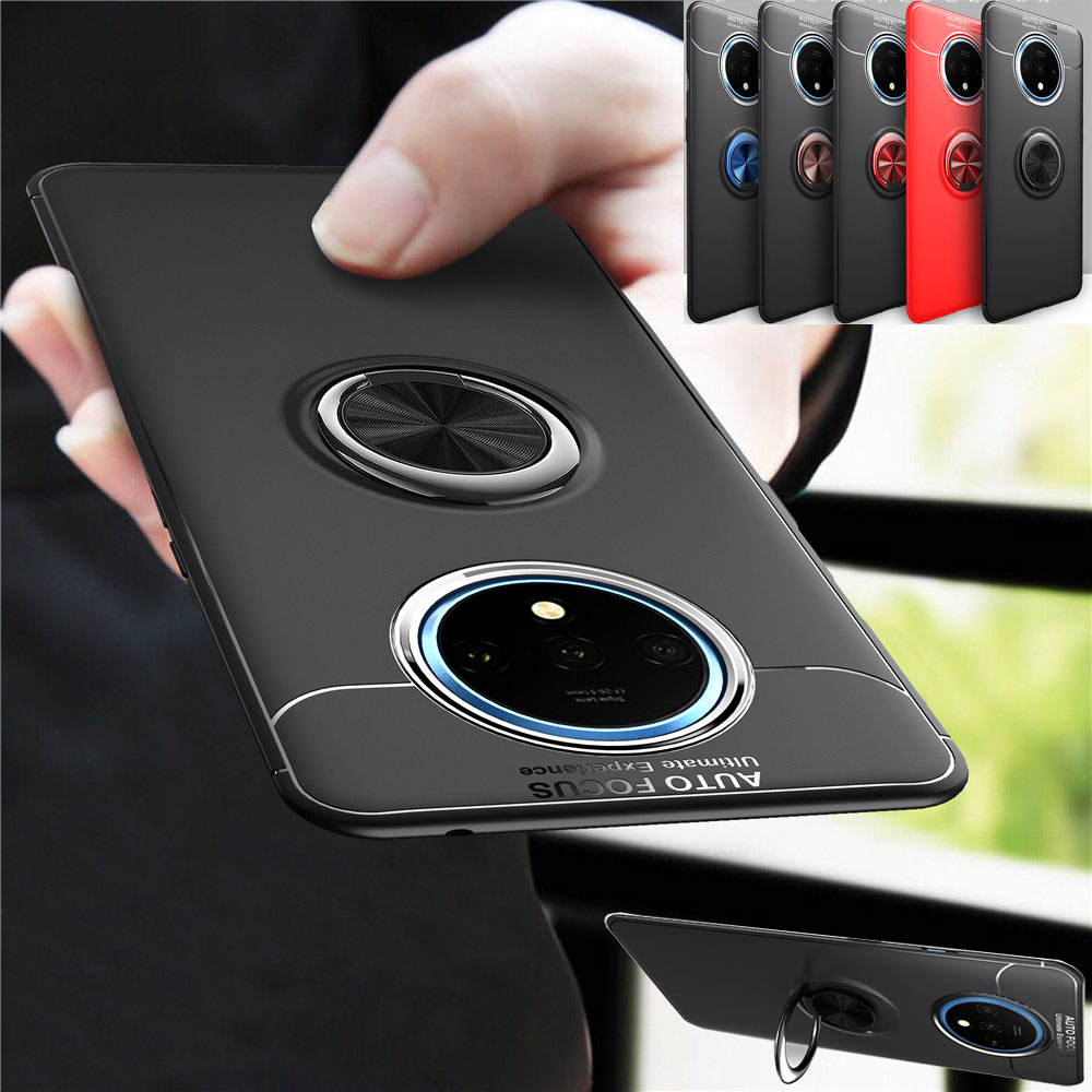 KDTONG Case For Oneplus 7T Case Luxury Magnetic Car Ring Soft Silicone Anti-fall Cover For Oneplus 7 7T Pro 1+7T Case Cover Capa