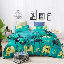 Tencel Bedding Set Duvet Cover Pattern Twin King Queen Size Pillowcase Bed Set Reactive Printing Quilt Cover Sheet Linens Set(China)