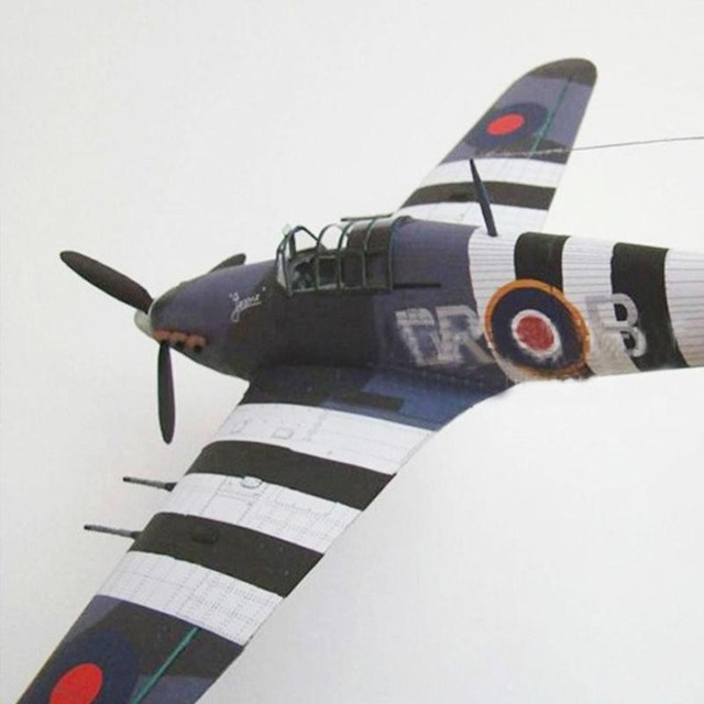 1:33 British Hurricane Fighter DIY 3D Paper Card Model Educational Toys Toys Sets Military Construction Building Model L2L7 5