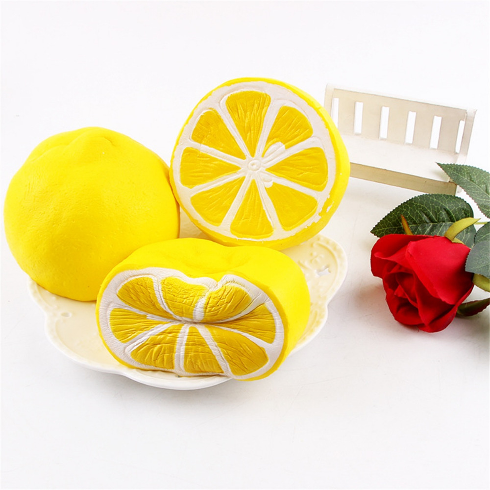 Squeeze Toys Stress Relief Kid Fun Lemon Scented Fruit Super Slow Rising Key Chain Toy Gift Pendant Children Collecting Soft