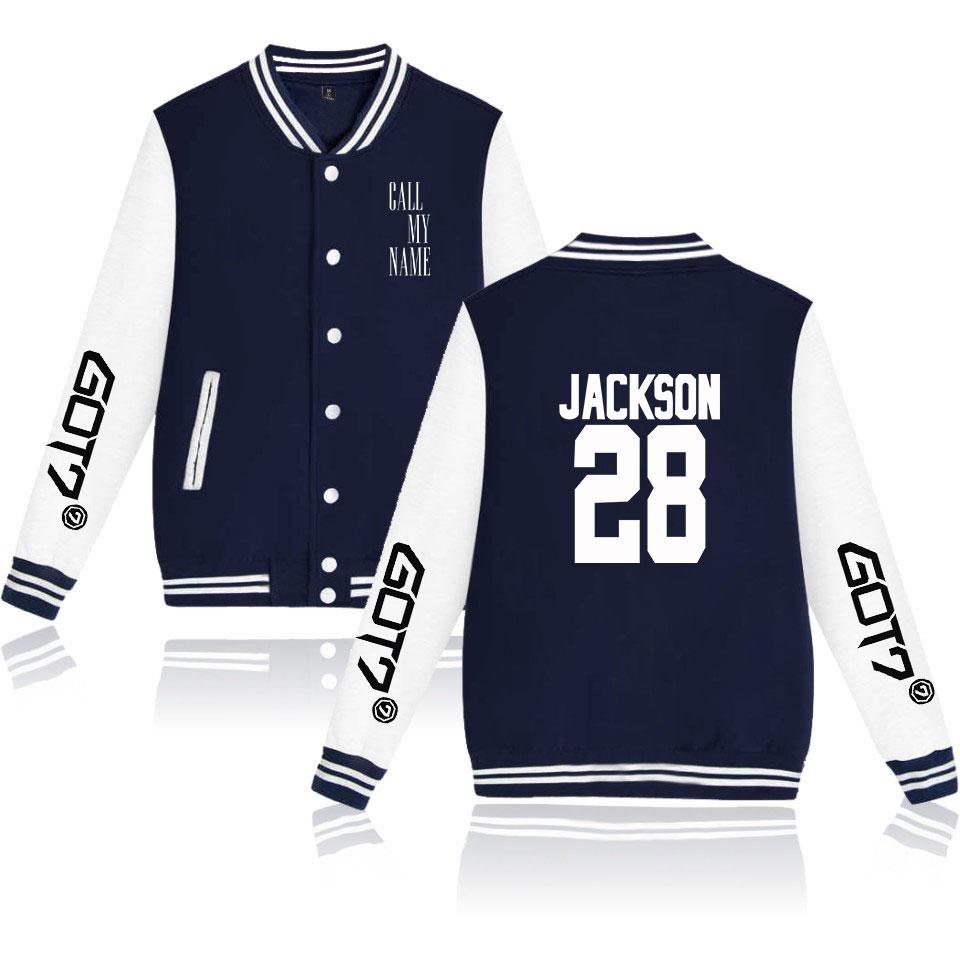 Kpop GOT7 Call My Name Off-Shoulder Hoodie women Sweater Loose Pullover Coat Top