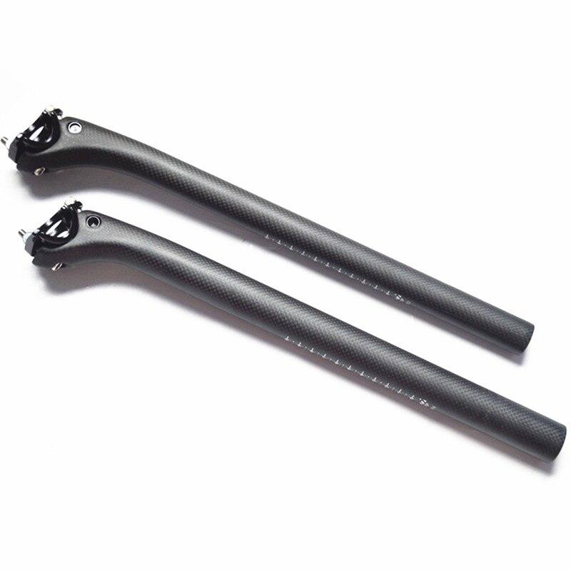 Classic Bike Carbon Fiber Bicycle Seatpost MTB Road Bike Parts Rod 190g Seat Post 3k Matte 27.2/30.8 /31.6 *400MM Offset 25mm