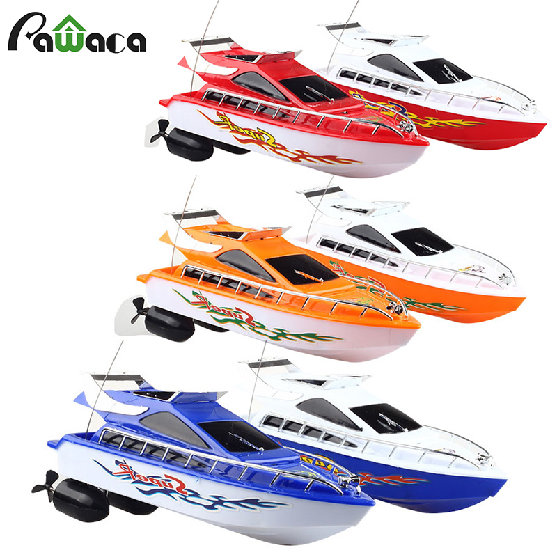 Rc Boat For Mini Kids Rc Remote Control Speed Boats Toy Racing Model 2.4GHZ Four-channel Small Remote Yacht Children's Gift image