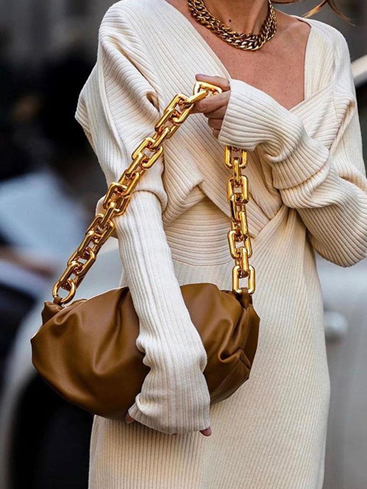 Bag for Clutches-Bags Dumpling-Bag Madame-Bag Handbag-Day Single-Shoulder Women Soft