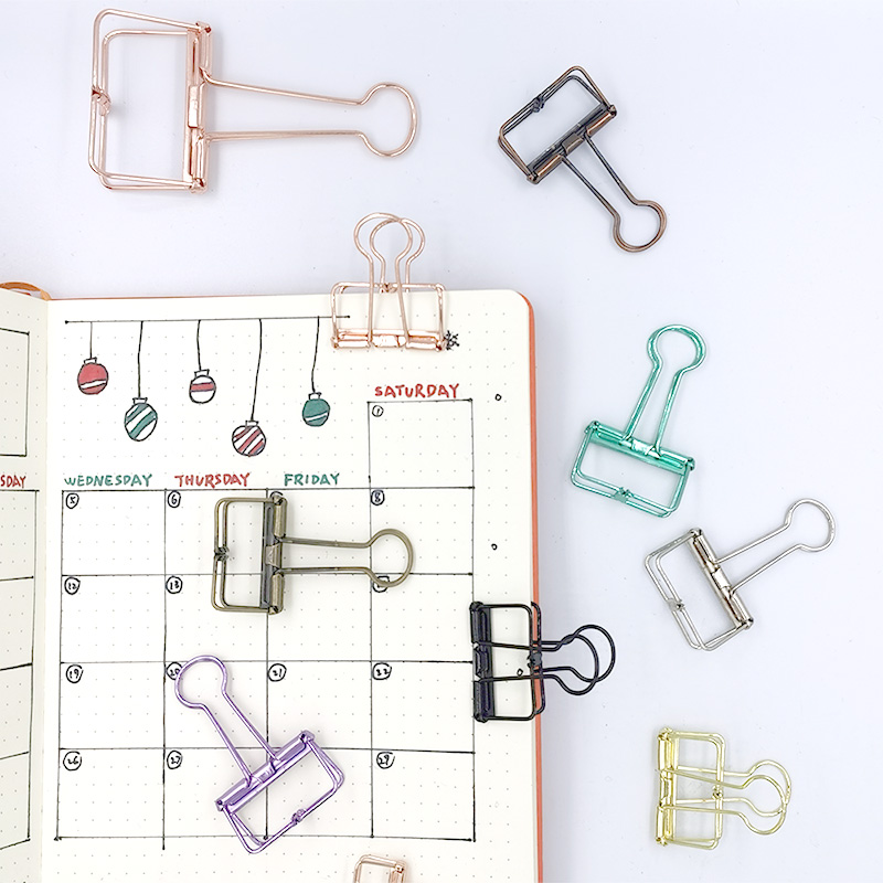 Colorful Metal Binder Clips Mini Paper Clip Multifunctional Decoration Office Stationery Clips Photo Clip 3pcs/lot