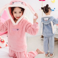 Christmas Pajamas for Girls Toddler Pajamas Sets Christmas Pajamas Kids Girls Cute Sleepwear Toddler Hooded Nightwear Suit 4 11Y